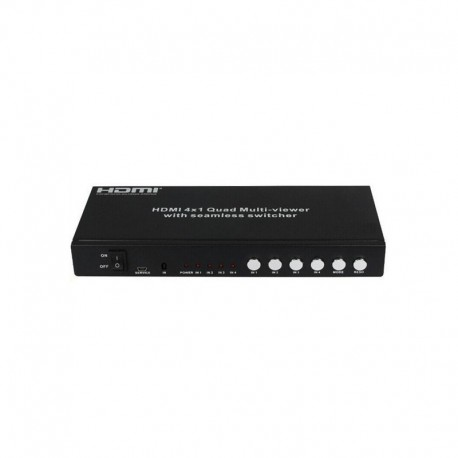 4 in 1 out HDMI Seamless Switch with Quad Display