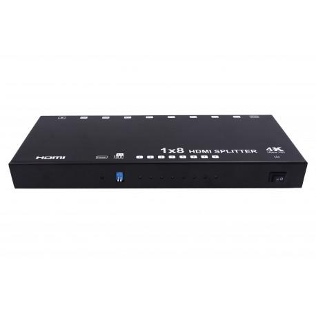 1x8 HDMI Splitter support 4kx2k@60HZ, YUV4:2:0, HDCP1.4, EDID