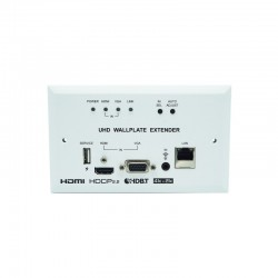 HDMI/VGA over HDBaseT Transmitter Wallplate